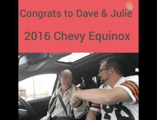 Congrats Dave and Julie 2016 Chevy Equinox